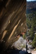 Rock Climbing Photo: Max Krimmer on Wills of Fire (V6) Joe's Valley  Ph...