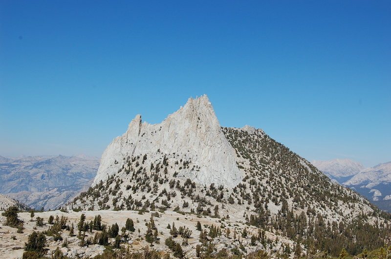 Cathedral Peak from the south@SEMICOLON@ Eichorn Pinnacle is on the left