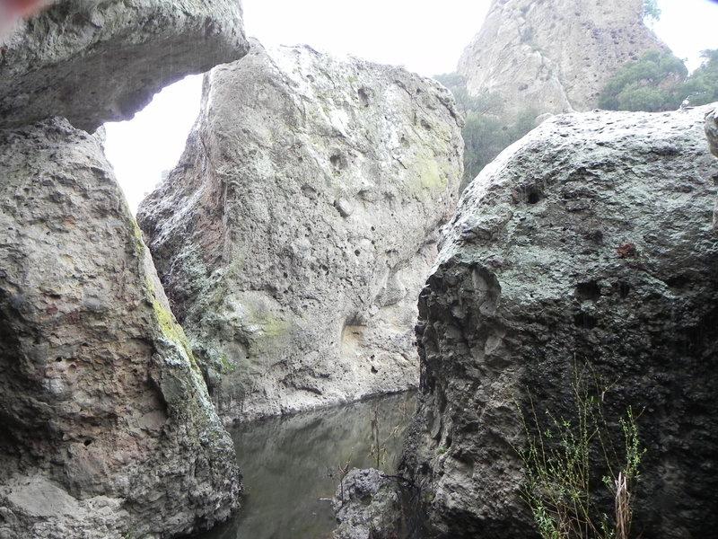 wedge boulder.