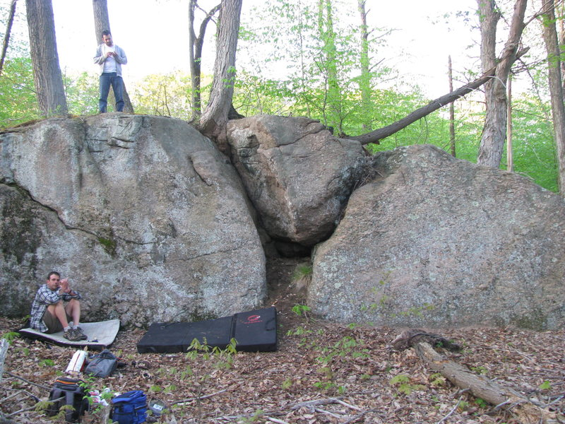Rock Climbing Photo: route is directly below the guy on top