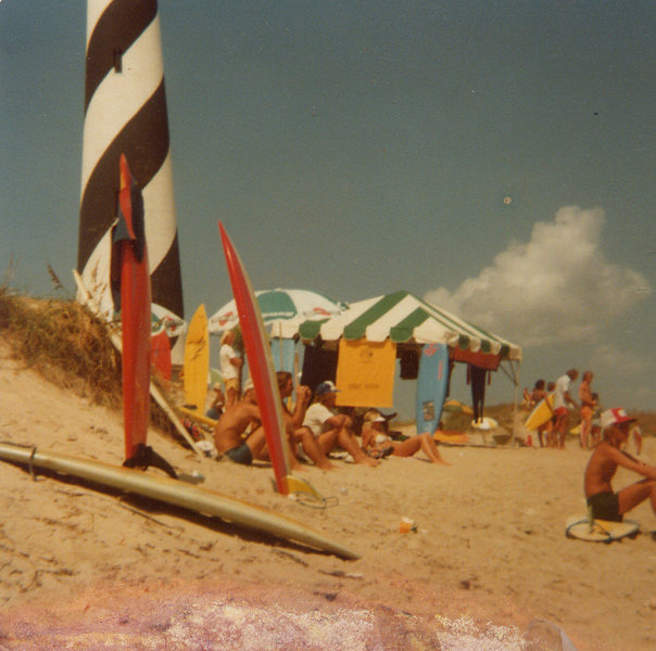 US Amateur Surfing Championships at Cape Hatteras,N.C. September 1978<br> Photo: Olaf Mitchell<br>