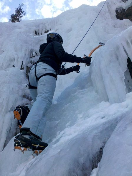Clear Creek ice climb