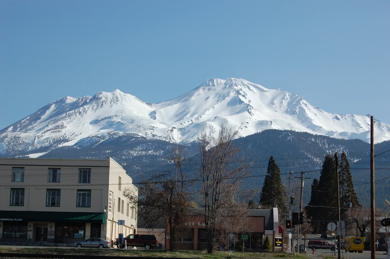 the mountain from town