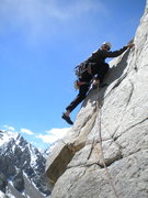 Rock Climbing Photo: Third pitch of Three Hour Arete (5.10c)