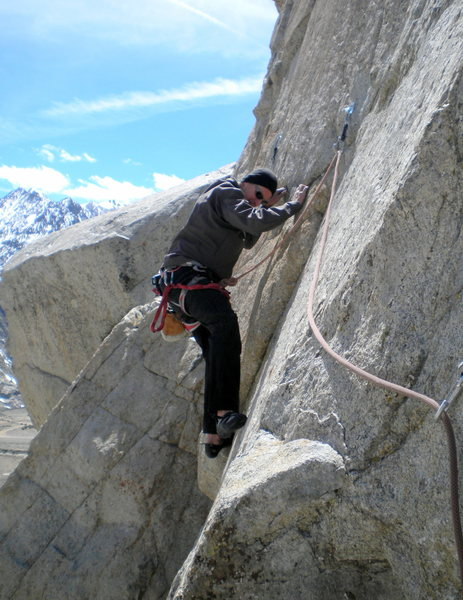 Rock Climbing Photo: Traversing start to Hall Pass (5.10d).