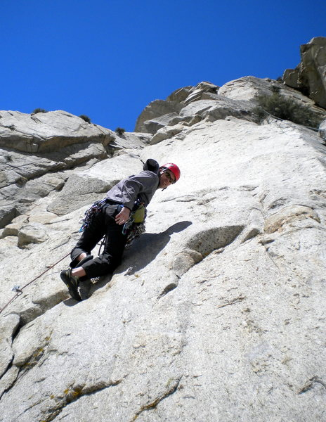 Rock Climbing Photo: The 5.9 mixed start of Three Hour Buttress.  The 2...