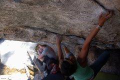 Rock Climbing Photo: Rad on zee crux
