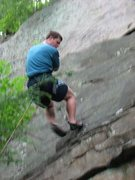 Rock Climbing Photo: Climbing at New River Gorge, West Virginia. I was ...