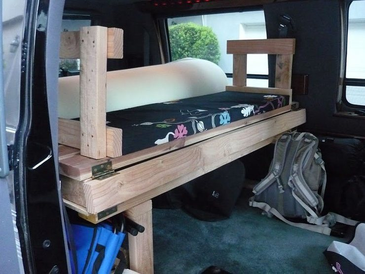 1997 Ram 2500 Camper Van, bench.