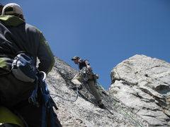 Rock Climbing Photo: Jeremy Freeman starts the 2nd pitch