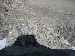 Rock Climbing Photo: looking down on the bivy