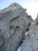 Rock Climbing Photo: Adam Winters makes the second rappel down the gull...