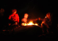 Rock Climbing Photo: Peace making around the fire
