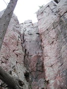 Rock Climbing Photo: V8 tower on the left and Superman on the right. Ja...