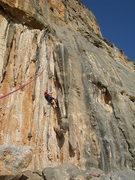 Rock Climbing Photo: Tanja working Thetis