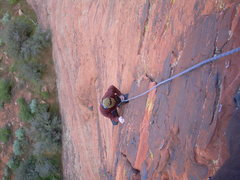 Rock Climbing Photo: Almost to the 1st belay
