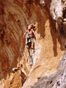 Rock Climbing Photo: No-hands rest in the upper section of the route