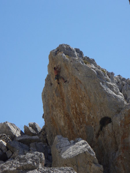 Rock Climbing Photo: Nearing the finish on Donner