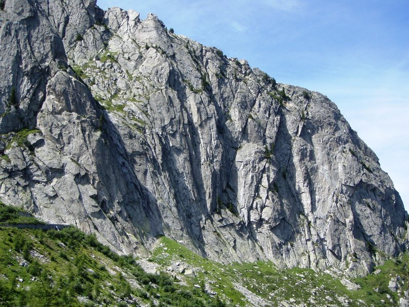Rock Climbing Photo: Spazzacaldeira climbing area, just a few minutes w...