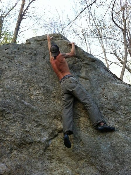 Rock Climbing Photo: a PBR was placed at top for sheer determiniation s...