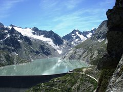 Rock Climbing Photo: Albigna reservoir from Spazzacaldeira