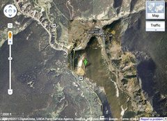 Rock Climbing Photo: Map of where Klettergarden is on US Hwy 24 from Le...