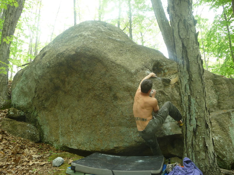 Rock Climbing Photo: one hand is still on the starting hold. others on ...