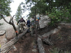 Rock Climbing Photo: Trail work.