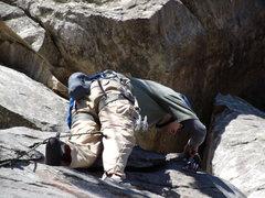 Rock Climbing Photo: Me leading