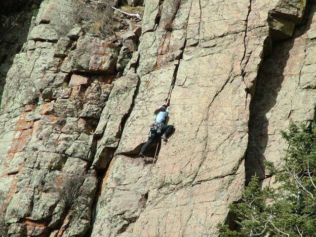 Climbing Beat Around the Bush, Sandia Mountains, ABQ, NM