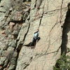 Climbing Beat Around the Bush, Sandia Mountains, ABQ, NM