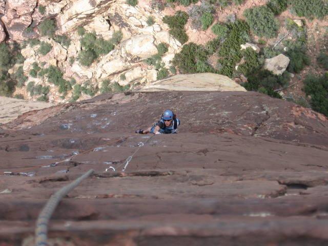 Rock Climbing Photo: Crimson Chrysalis, Red Rocks, NV