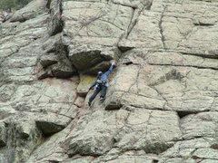 Rock Climbing Photo: Crackula, 5.8, Sandia Mtns, ABQ, NM
