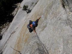 Rock Climbing Photo: West Crack (5.9), Daff Dome, Yosemite, CA