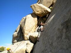 Rock Climbing Photo: Mary climbing Private Eye.