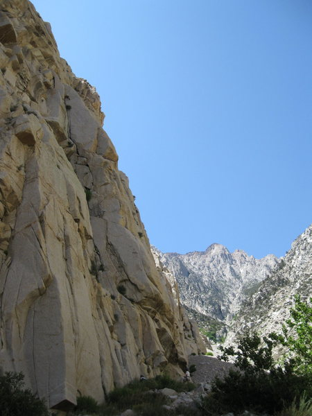 Rock Climbing Photo: Tai Devore on the FA of The Birthday boy
