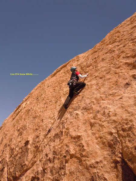 Rock Climbing Photo: Lisa Pritchett FFA on Snow White...