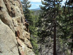Rock Climbing Photo: Scott Nomi follows Ball and Chain.