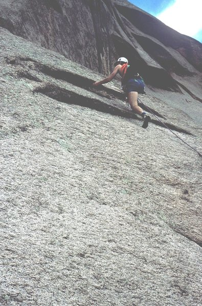 Rock Climbing Photo: Gary on Topographical Oceans.