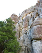 "Rock Climbing Photo: Note the obvious ""tornado"" crack. Cymbel..."