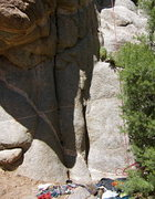 Rock Climbing Photo: The start of Cymbeline.