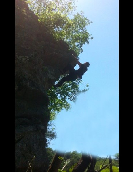 Rock Climbing Photo: Topping out on Siren (V2)