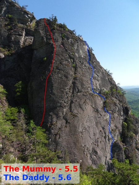 Rock Climbing Photo: Topo of route.  Stretch the rope, use long draws a...