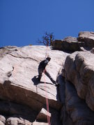 """Rock Climbing Photo: Tiago rappelling down """"The Touch"""""""