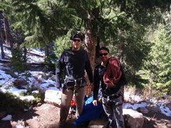 Rock Climbing Photo: Tiago and I preparing to climb.