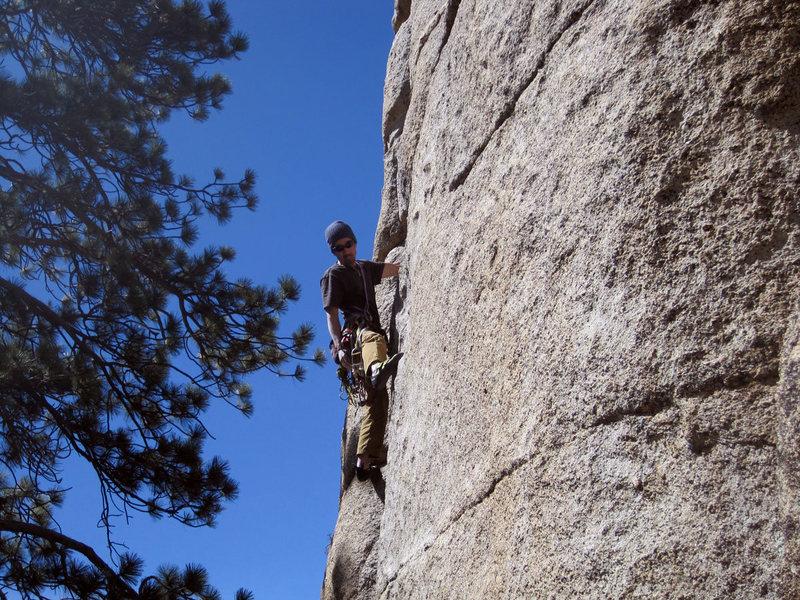 Rock Climbing Photo: Scott Nomi leads.