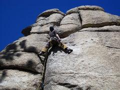 Rock Climbing Photo: Scott stemming.