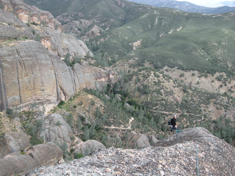 Rock Climbing Photo: Nearing the end of P5ish