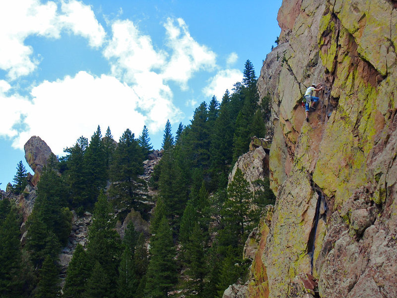 Rock Climbing Photo: Upper section of the exposed 4th pitch.