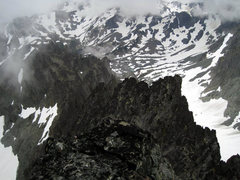 Rock Climbing Photo: Top of Clark. In the center you should be able to ...